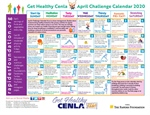 April Calendar Provides Daily Fitness and Nutrition Tips