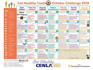 October Calendar Encourages Eating Healthy As A Family